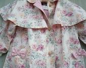 Rothschild Vintage 1980's Chintz Cabbage Rose Rain All Weather Coat Little Girls 6X