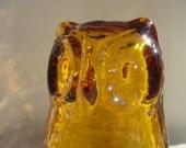 Pilgrim Amber Glass Owl