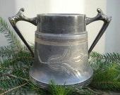 Victorian silver sugar bowl Tulip engraved
