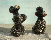 Black French Poodles Redware