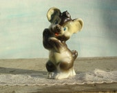 Whimsical Brown Bear Cub Figurine Vintage Japan