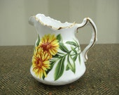 Hammersley Flowers of Shakespeare's Day Marigold Creamer Pitcher 1971