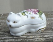 Cat Candle Elizabeth Arden Perfume Trinket Dish