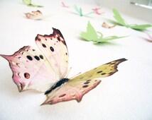 15 3D Wall Butterflies,3D Butterfly Wall Art, Decoration, Pink, Green, 3D Wall Decor,Nursery, Baby, Wedding Decor, Baby Shower, Girls Room