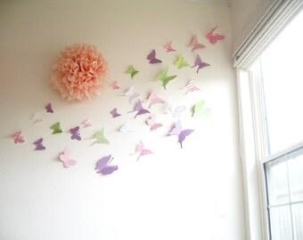 20 butterflies 3d butterfly wall art 3d butterflly wall for 3d baby room design
