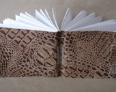 Alligator Embossed Brown Leather Journal
