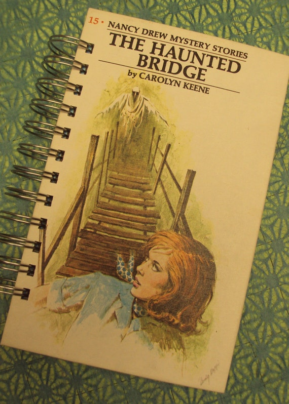 Nancy Notebook HAUNTED Bridge UPCYCLED Journal
