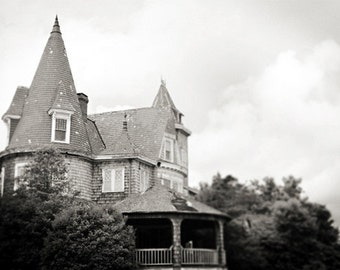 Black and White Photography Victorian House New Jersey 8x12