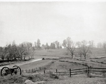 Black and White Photography Gettysburg Pennsylvania Civil War Battlefield 8x12