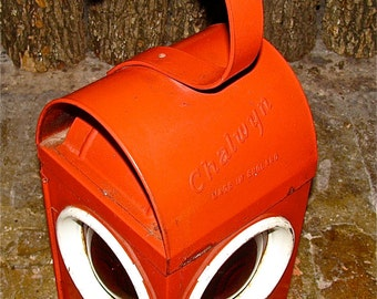 Antique Kerosene / Oil Lantern by Chalwyn Made In England  /  Lamp  /  Light  /  Signal /  Railroad / Traffic