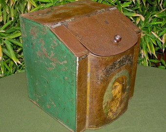 Antique 1800's Country Store Counter Top Advertising Display Ginger Spice Tin / Canister / Bin