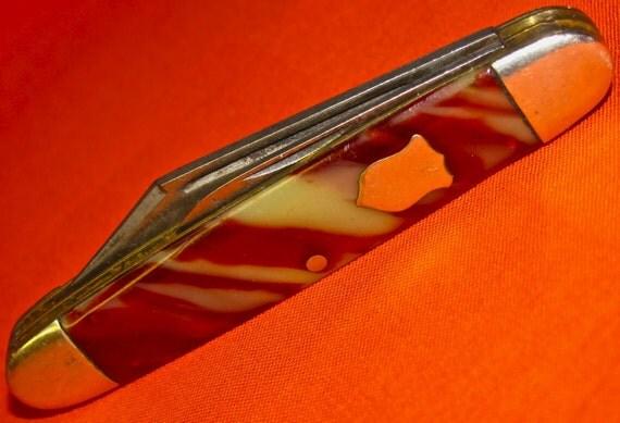 Vintage Collectible KENT 2 Blade Pocket Knife  /  Circa 1831 to 1955