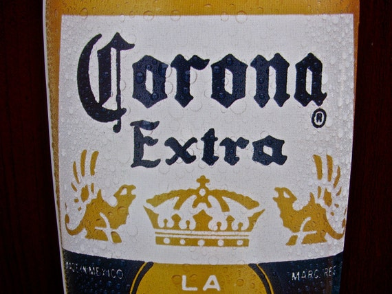 Reserved / Corona Extra La Cerveza Mas Fina Beer Bottle Shape Advertising Tin/Metal Sign