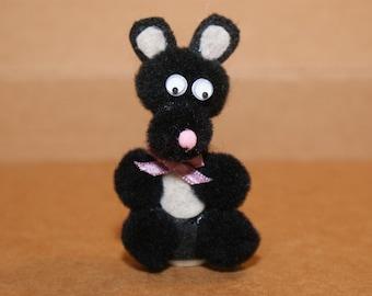 Black Bear Finger Puppet