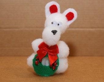 Christmas Bear Finger Puppet
