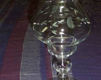 Princess House Heritage Crystal Candle Lamp-2 Piece-Lot of 2