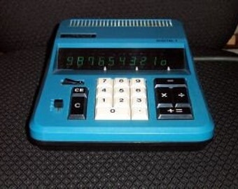 Vintage Royal Litton Digital I Blue Desk Calculator-1971-MINT