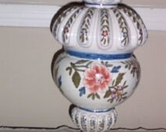 Decorative Hand-Painted Ceramic Urn-Made In Italy