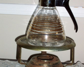 Vintage Pyrex Coffee Carafe With Base Warmer