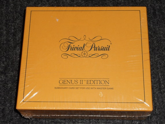 Trivial Pursuit Genius II Edition-Subsidiary Card Set For Use With Master Game-NIB-SEALED-1984