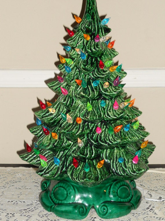 Green Ceramic Christmas Tree Lights – Home design and Decorating