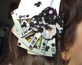 Royal Flush diamond/heart/club/spade hair clip/comb