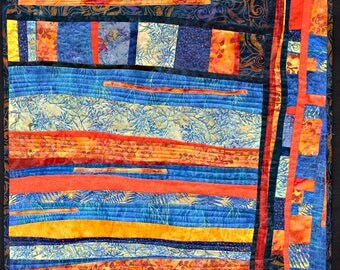A  contemporary art quilt for sale.