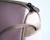 Vintage 80's Liz Claiborne vinyl shoulder bag purse with leather trim
