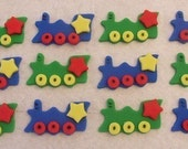 Fondant Cupcake Toppers - Trains