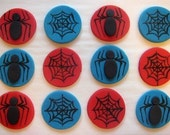 Fondant Cupcake Toppers - Spiders, Webs