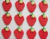 Fondant Cupcake Toppers - Strawberries