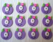 Fondant Cupcake Toppers - Little Girl Monsters