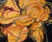 YELLOW ROSE - original oil painting 20x16