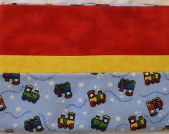 Choo Choo Train Snuggly Soft Flannel Standard Size Pillowcase