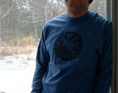 SUPER SALE Brain Star Mandala Men's LARGE Long Sleeve Tee