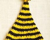 SALE... Black and gold pom pom hat .... baby photo prop