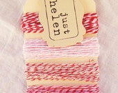 Red and Pink Baker's Twine Collection - 25 yards