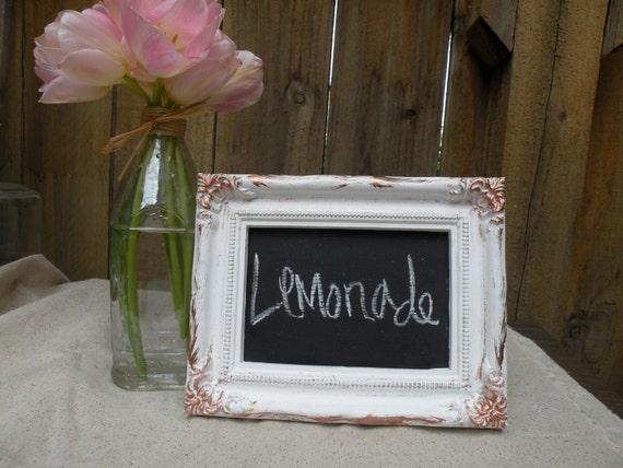 Reserved for Kellymshea4 Vintage Inspired Chalkboard Frame