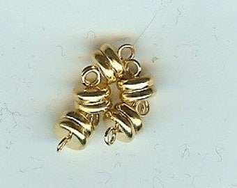 Magnetic clasps 5pc extra strong gold plated