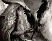 Odin Wotan With Ravens Art Print