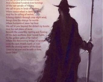Calling of the Grey Wanderer Odin Wotan Art Print