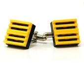 Grill cufflinks made with LEGO bricks