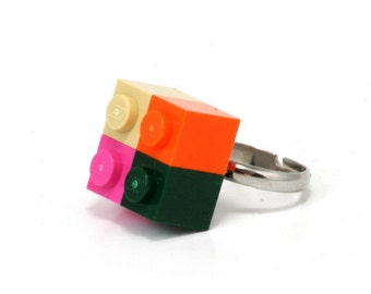 4pack ring made with LEGO bricks