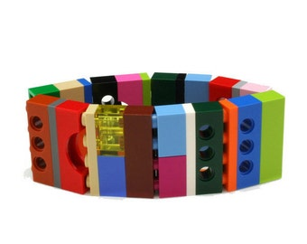 LAS VEGAS wide bracelet made with LEGO bricks