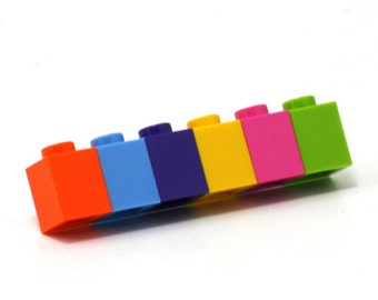 Small barette brooch made with LEGO bricks