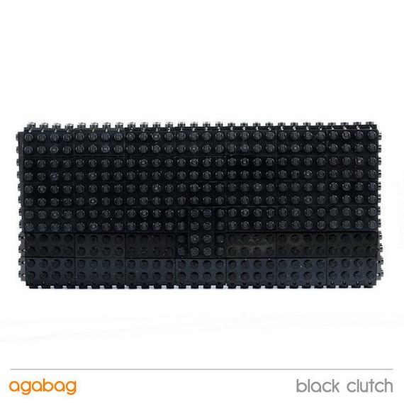 Black clutch purse made with LEGO® bricks FREE SHIPPING purse handbag legobag trending fashion