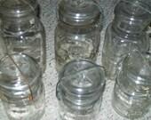12 Glass Top QUART Ball Canning Jars Perfect 4 Wedding Tree Lanterns Votives Luminaires