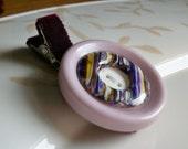 VINTAGE Autumn Sugar Plum Button hair clip