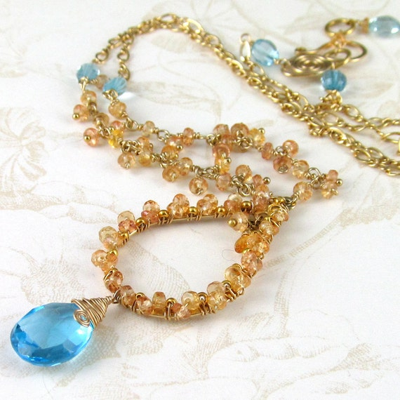 yellow sapphire necklace - photo #31