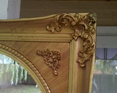 Oval Wall Mirror in Amazing Antique Wood and Plaster Baroque Frame 26x22